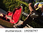 Red Lined Guitar Case Of A...