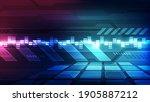 vector abstract futuristic... | Shutterstock .eps vector #1905887212