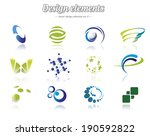 color design element set ... | Shutterstock .eps vector #190592822