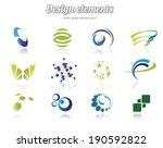 color design element set ... | Shutterstock .eps vector #190592822