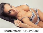 sexy attractive girl with big... | Shutterstock . vector #190593002