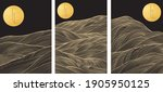 japanese background with gold... | Shutterstock .eps vector #1905950125