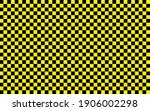 black and yellow checkered...   Shutterstock .eps vector #1906002298