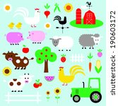 farm animal clip art | Shutterstock .eps vector #190603172