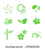 spa bali elements | Shutterstock .eps vector #19060534