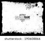 grunge frame set. vector...