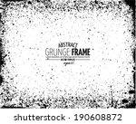 grunge frame set. vector... | Shutterstock .eps vector #190608872