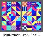 simple background geometric... | Shutterstock .eps vector #1906115518