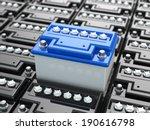 car batteries background. blue... | Shutterstock . vector #190616798