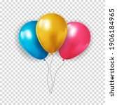 realistic 3d balloon collection ...   Shutterstock .eps vector #1906184965
