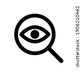 eye sign with magnifying glass... | Shutterstock .eps vector #1906210462