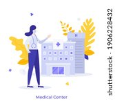 physician or doctor wearing... | Shutterstock .eps vector #1906228432