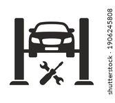 car lift icon. car service....   Shutterstock .eps vector #1906245808