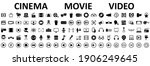 set of 100 cinema  movie  video ... | Shutterstock .eps vector #1906249645