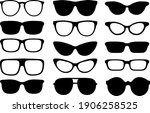 sunglasses clip arts with lines | Shutterstock .eps vector #1906258525