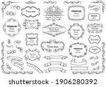 calligraphic design elements .... | Shutterstock .eps vector #1906280392