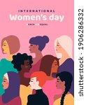 happy international women's day.... | Shutterstock .eps vector #1906286332