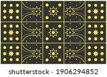 pattern rug consisting of black ...   Shutterstock .eps vector #1906294852