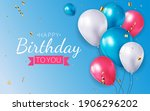 realistic 3d balloon background ... | Shutterstock .eps vector #1906296202