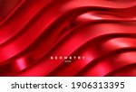 red wavy stripes background.... | Shutterstock .eps vector #1906313395