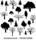 set of different trees  vector... | Shutterstock .eps vector #190631888