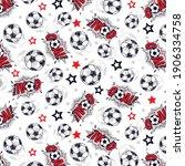 football balls goals with stars ... | Shutterstock .eps vector #1906334758