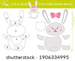 vector easter cut and glue... | Shutterstock .eps vector #1906334995