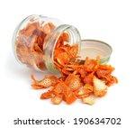 Orange Dried Peel. Isolated On...