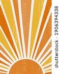 abstract sun print boho... | Shutterstock .eps vector #1906394338