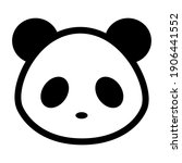 panda faces icon isolated on... | Shutterstock .eps vector #1906441552