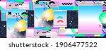 vaporwave music seamless... | Shutterstock .eps vector #1906477522