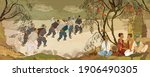 ancient china. tea ceremony....   Shutterstock .eps vector #1906490305