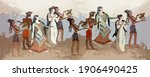 minoan civilization. heraklion. ...   Shutterstock .eps vector #1906490425