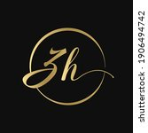 zh gold luxury color logo... | Shutterstock .eps vector #1906494742