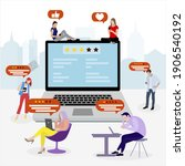 feedback and reviews concept in ...   Shutterstock .eps vector #1906540192