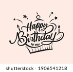 happy birthday typography... | Shutterstock .eps vector #1906541218