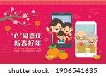 cartoon chinese people having... | Shutterstock .eps vector #1906541635
