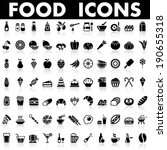 food and drink icons | Shutterstock .eps vector #190655318