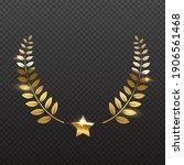 award star and golden laurel.... | Shutterstock .eps vector #1906561468
