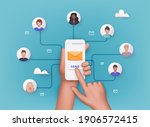 running email campaign  email... | Shutterstock .eps vector #1906572415