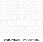 seamless pattern with grey thin ...   Shutterstock .eps vector #1906594582