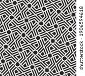 pattern with monochrome bold...   Shutterstock .eps vector #1906594618