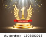 winner award. number one.... | Shutterstock .eps vector #1906603015