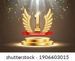winner award. number one.... | Shutterstock .eps vector #1906603015