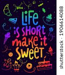 vector poster with life is... | Shutterstock .eps vector #1906614088