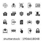 vector set of security flat... | Shutterstock .eps vector #1906618048