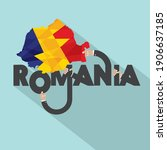 romania and map typography... | Shutterstock .eps vector #1906637185