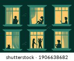 look at the neighbors in the... | Shutterstock .eps vector #1906638682