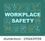 workplace safety word concepts...