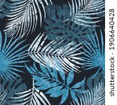 abstract tropical palm leaves... | Shutterstock .eps vector #1906640428